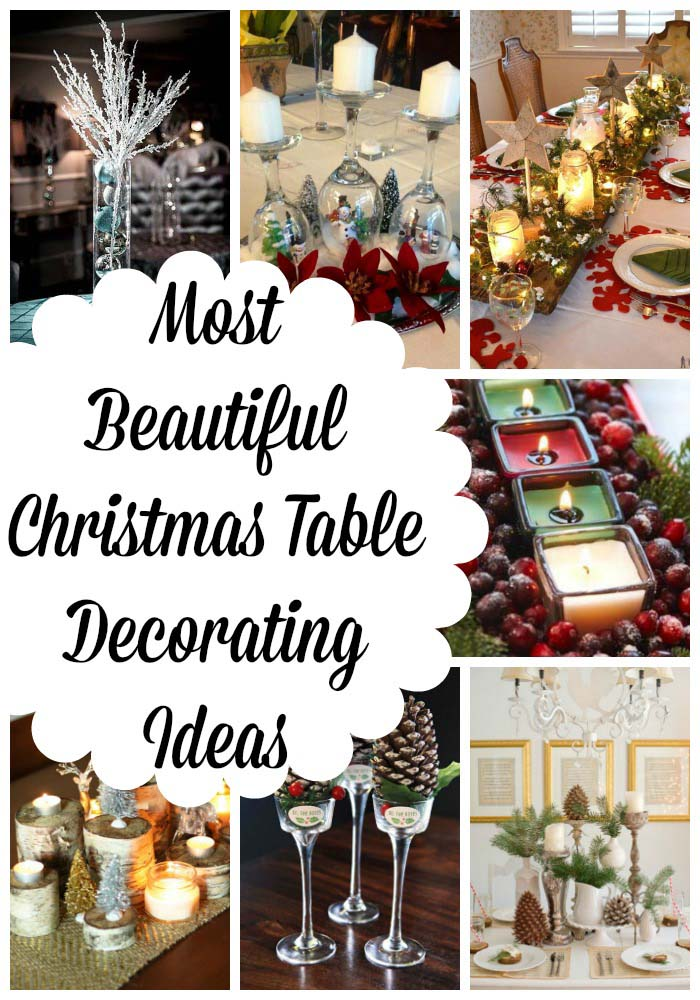 Perfect Beautiful Christmas Table Decorations