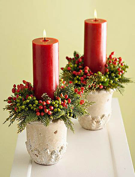 christmas candle decorating ideas 1