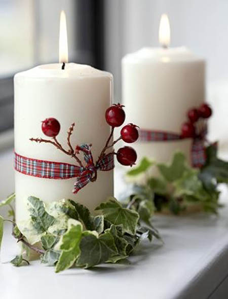 christmas candle decorating ideas 6 - Christmas Candle Decorations