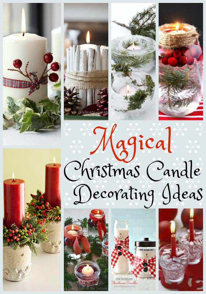 christmas candle decorations - Christmas Candle Decorations