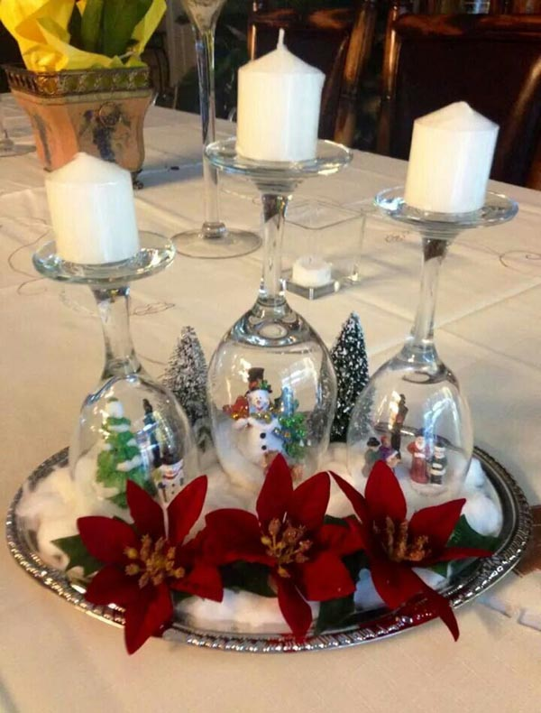 christmas table decorations 11 - Pinterest Christmas Table Decorations