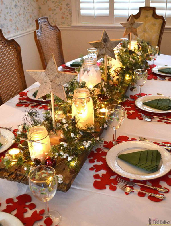 winter wonderland christmas tablescape illuminate your holiday table with a centerpiece - Easy Christmas Table Decorations Ideas