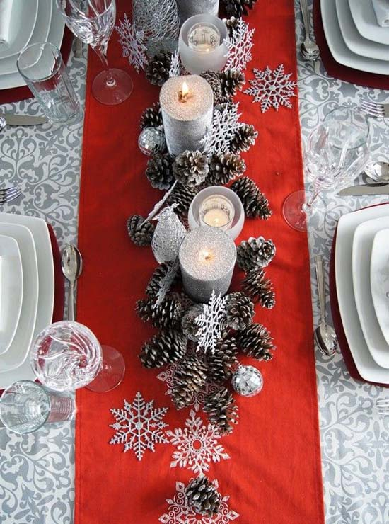 christmas-table-decorations-4 : ideas for christmas table setting - pezcame.com