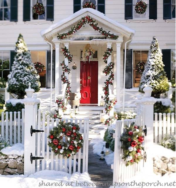 winter wonderland outdoor christmas decorating ideas 10 - Winter Wonderland Christmas Decorating Ideas