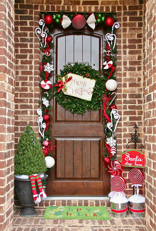 Best outdoor christmas decorations ideas all about christmas Simple christmas outdoor decorating ideas