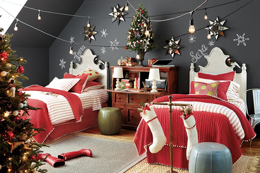 40 RED CHRISTMAS DECORATING IDEAS - All About Christmas Bedroom Christmas Decorating Html on christmas bedroom sets, christmas bedroom lighting, christmas bedroom fun, christmas design, christmas bedroom curtains, christmas layout of a bedroom, christmas outdoor decorations, christmas bedroom diy, christmas lights in bedroom, christmas beds, christmas bedroom accessories, christmas bedroom baby, christmas bedroom decor teen, christmas master bedrooms,