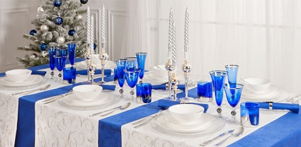 Blue Christmas Table Loris Decoration