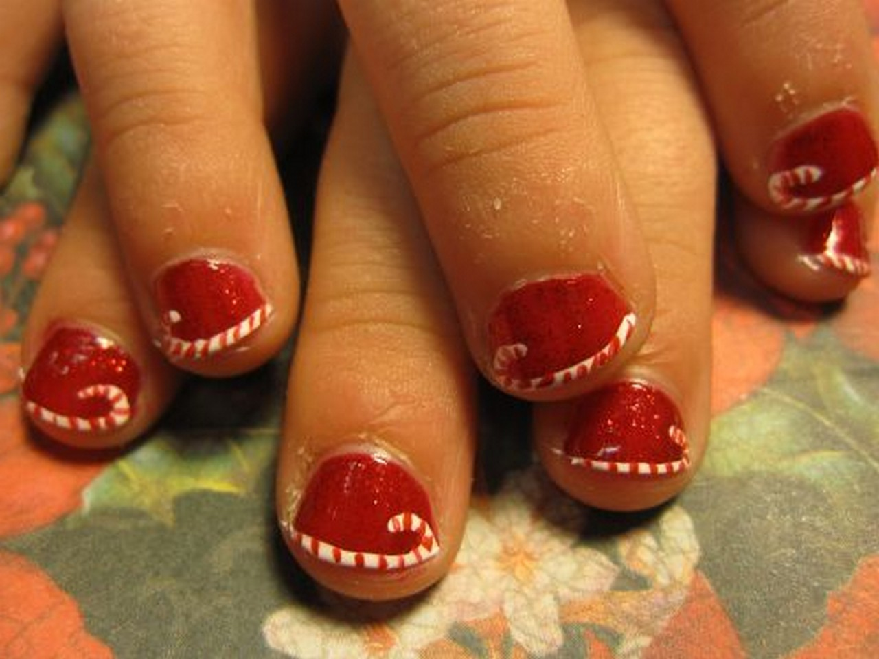 40 easy christmas nail art designs all about christmas - Christmas Nail Decorations
