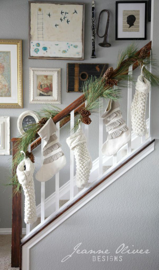 Image result for christmas banister
