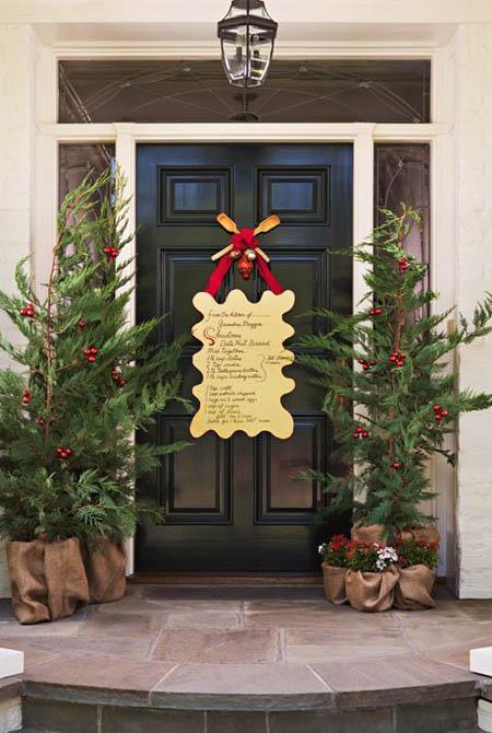 christmas front door decorations 10 - Christmas Front Door
