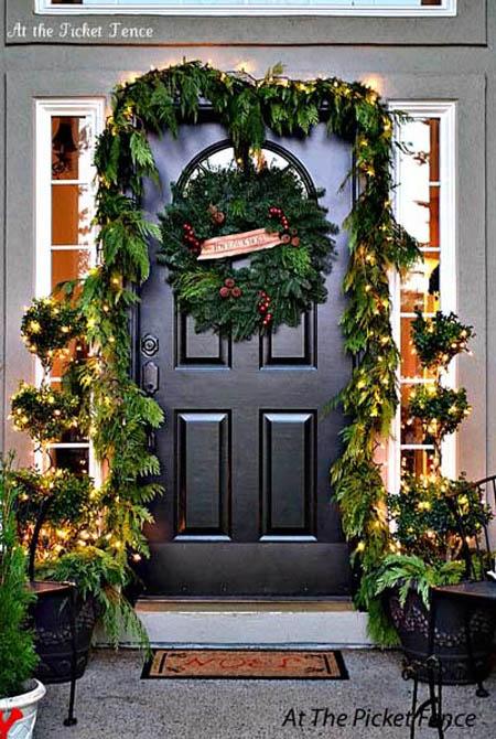 Wonderful christmas front door decorations ideas all - Front door ideas photos ...