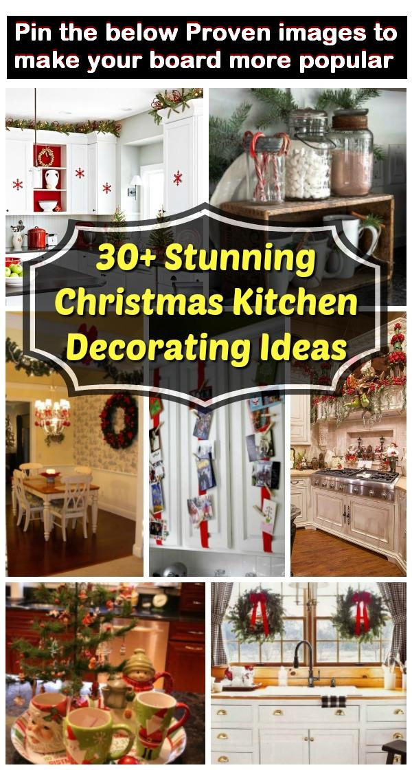 30+ Stunning Christmas Kitchen Decorating Ideas – All About ...