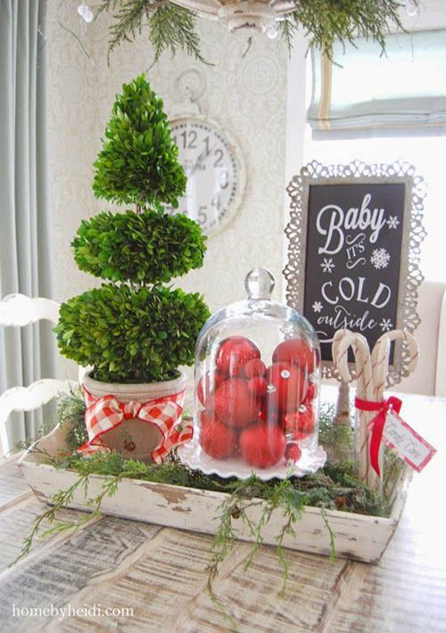 Kitchen Island Christmas Decoration