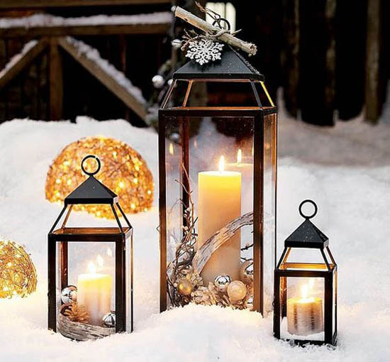 stunning christmas lantern decorations ideas all about christmas. Black Bedroom Furniture Sets. Home Design Ideas
