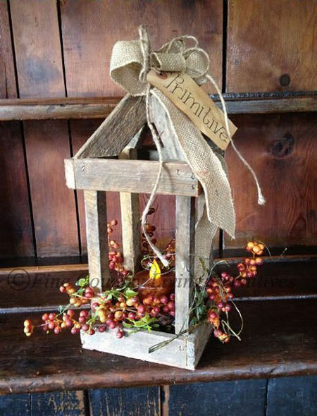 diy christmas lantern decoration