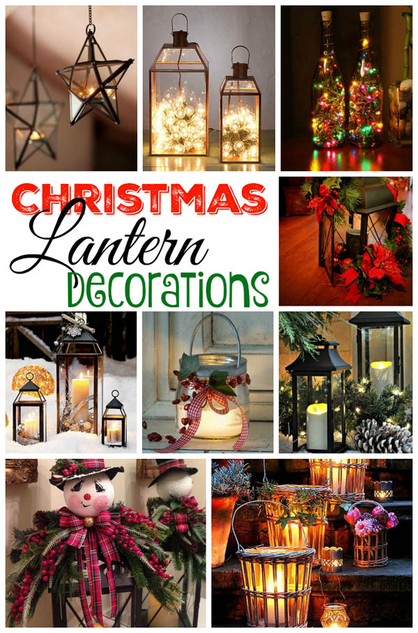 christmas lantern decorations ideas - How To Decorate A Lantern For Christmas