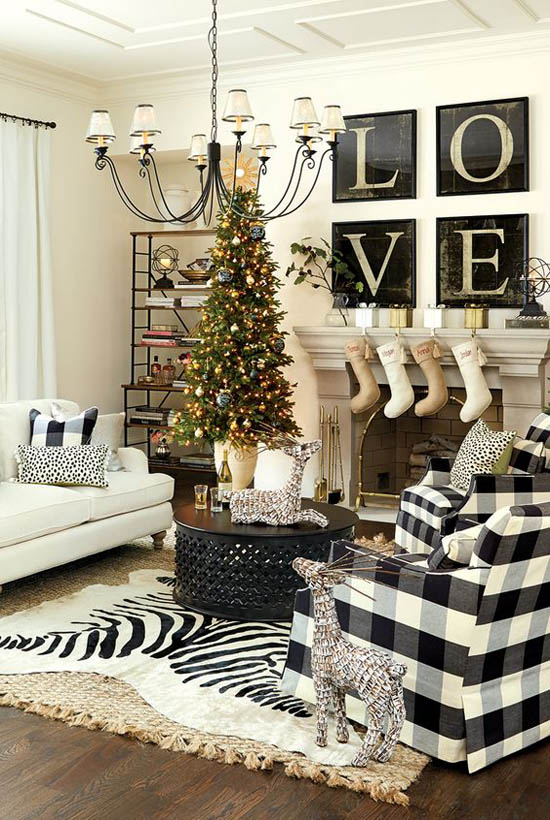Christmas Living Room Decorating Ideas 1