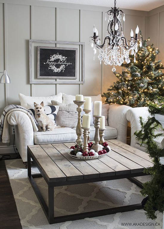 Most breathtaking christmas living room decorating ideas Christmas living room ideas