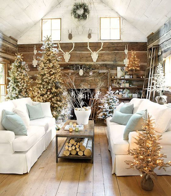 Christmas Living Room Decorating Ideas 26