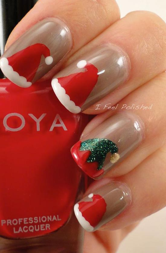40 festive and fabulous christmas nail art designs all about christmas nail art designs 2 prinsesfo Image collections