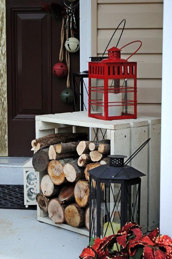 christmas porch decorating ideas 19 - Rustic Christmas Porch Decorating Ideas