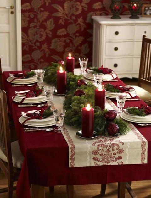 Christmas tablescape