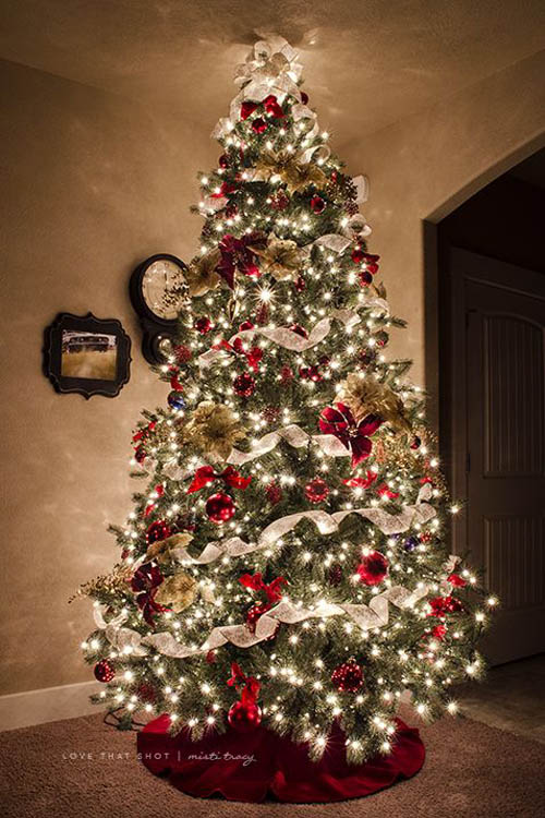 50 beautiful and stunning christmas tree decorating ideas for Beautiful homes decorated for christmas