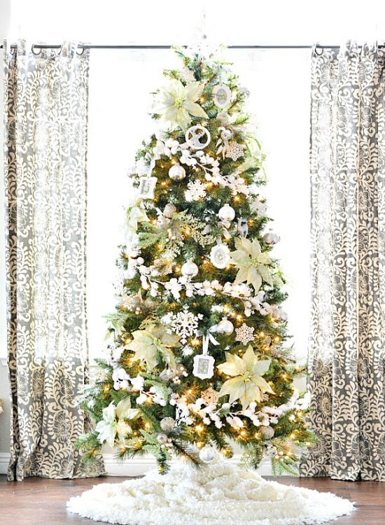 christmas tree decorating ideas 28 - Winter Wonderland Christmas Decorating Ideas