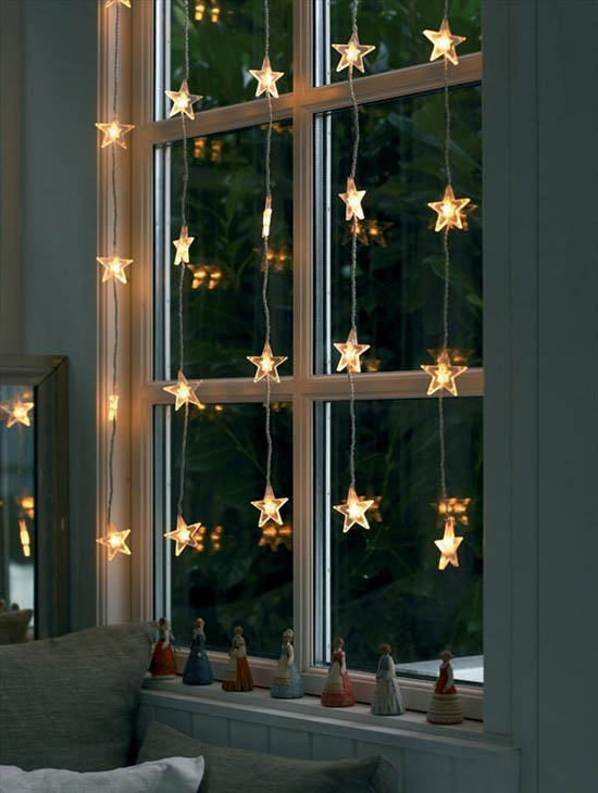 christmas window decoration ideas 1 - Indoor Window Christmas Decorations