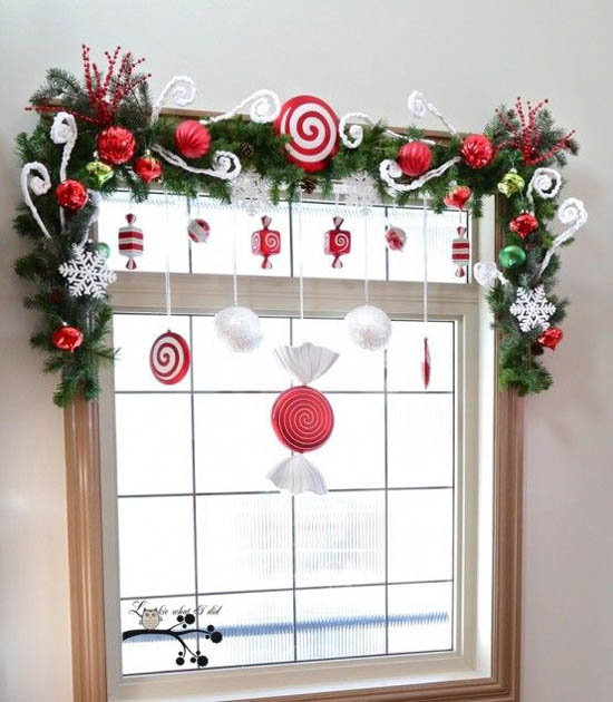 40 stunning christmas window decorations ideas all about christmas - Christmas Decoration Ideas