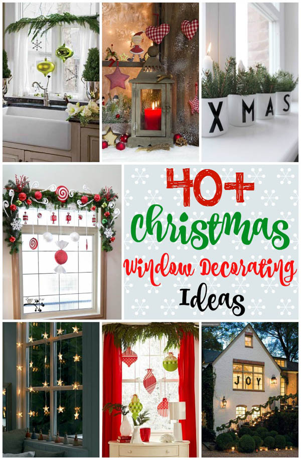 Amazing ... Christmas Window Decoration Ideas