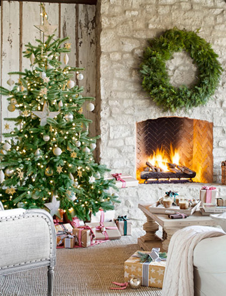 country christmas decorating ideas 3 - Country Christmas Tree Decorating Ideas