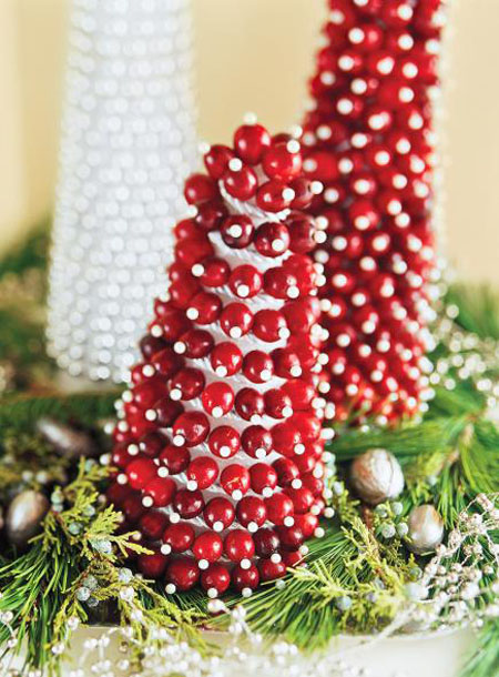 Christmas decorating with cranberry all about