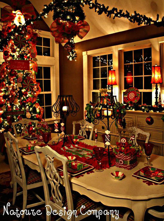 dining room christmas decorations 1 - Dining Room Christmas Decorations