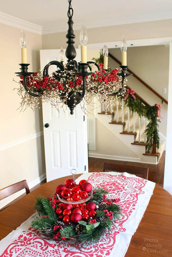 dining room christmas decorations 2 - Dining Room Christmas Decorations