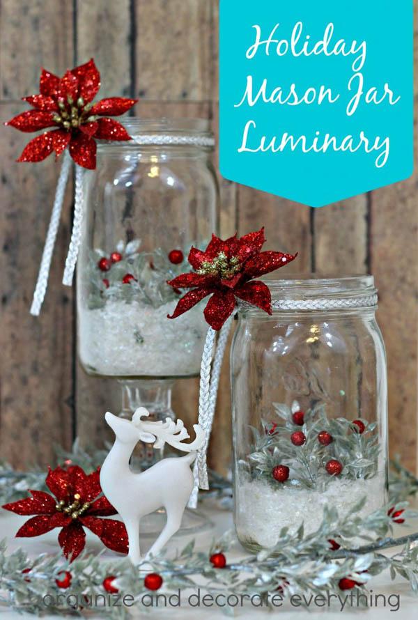 mason jar christmas decorations 22