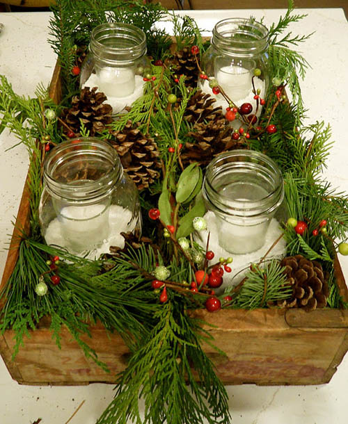 Christmas decorating with mason jars all about