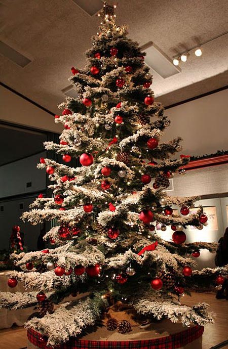 Most Beautiful And Creative Christmas Trees All About - Frosty Christmas Tree - Image Home Garden And Tree Rtecx.Com