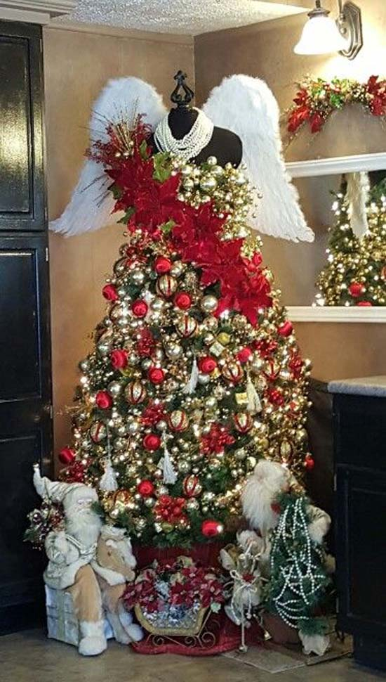 Most beautiful and creative christmas trees all about for Angel christmas tree decoration