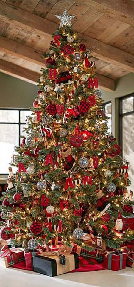 Most beautiful and creative christmas trees all about for Beautiful homes decorated for christmas