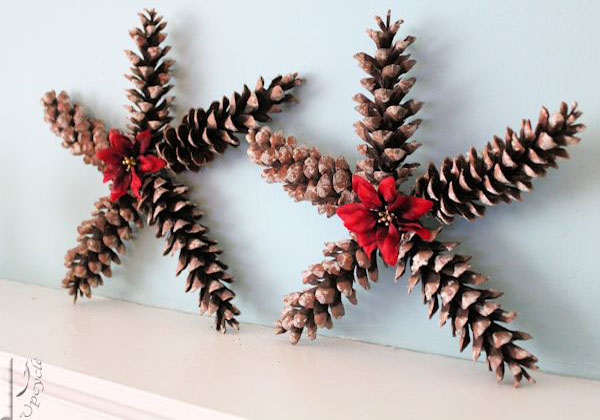 Christmas Crafts Made With Pinecones