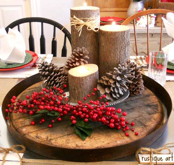 Making Natural Christmas Decorations: 33 Stunning Natural Christmas Decorating Ideas
