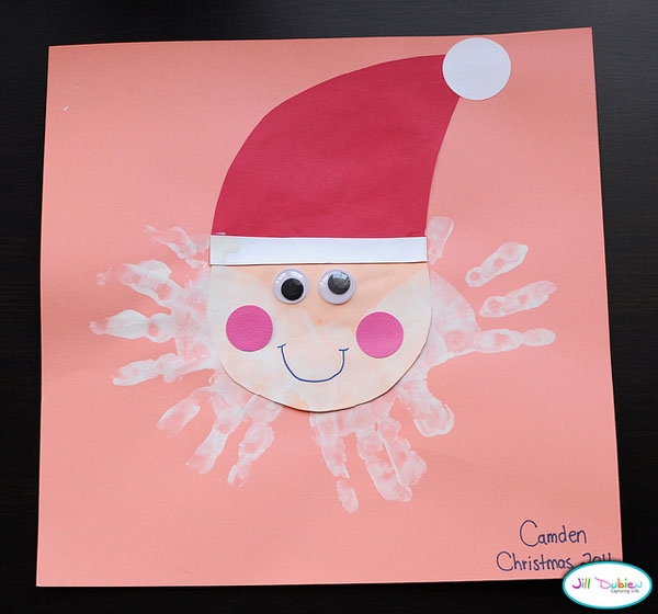 33 easy to make santa christmas crafts all about christmas for Santa crafts for kindergarten