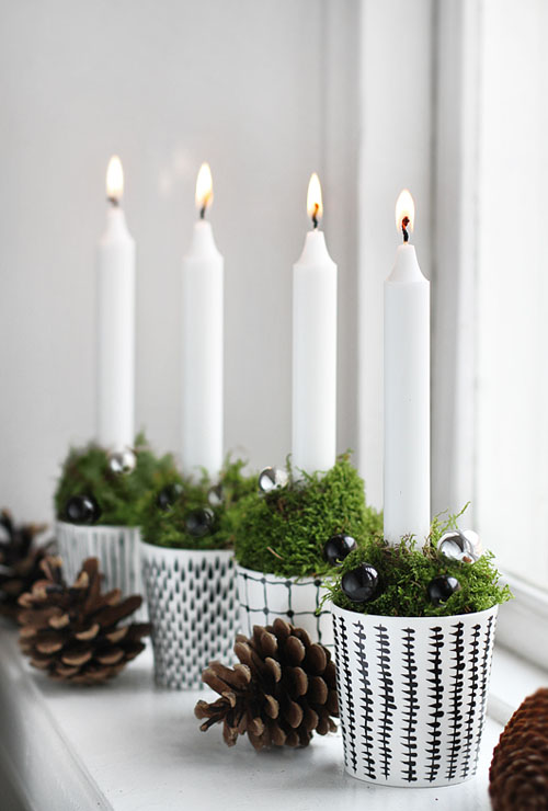 clear candle light scandinavian christmas decorations 17