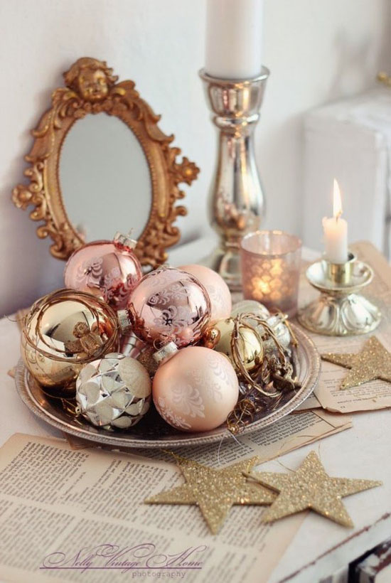 shabby chic christmas decorations 18
