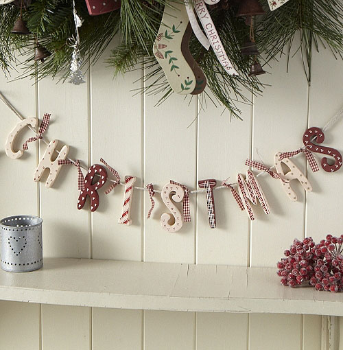shabby chic christmas decorations 2