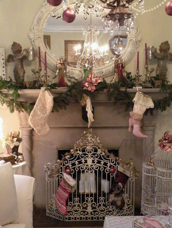shabby chic christmas decorations 28 - Chic Christmas Decorations
