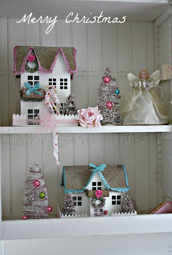 30 Breathtaking Shabby Chic Christmas Decorating Ideas