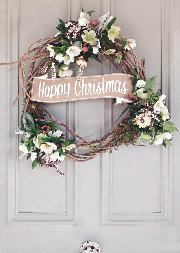 30 breathtaking shabby chic christmas decorating ideas - Deco noel shabby chic ...