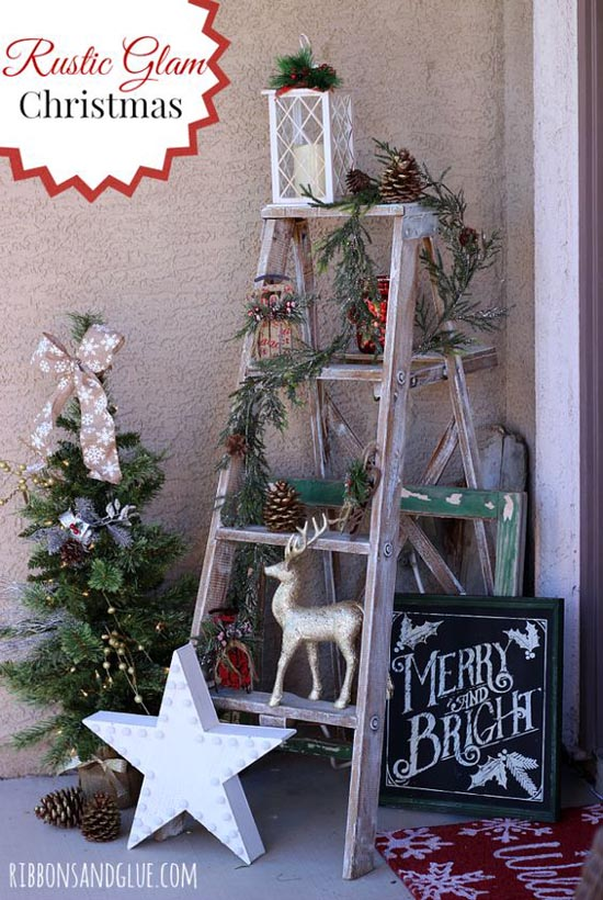 rustic glam vintage christmas decor - Vintage Christmas Decorations